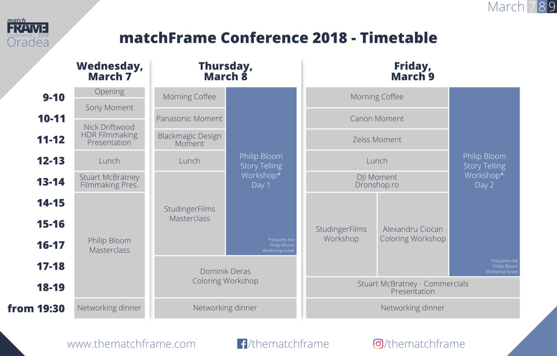 Program matchFRAME 2018