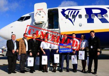 RyanAir a anulat si cursa de Dusseldorf, de pe Aeroportul Oradea, incepand cu luna iunie