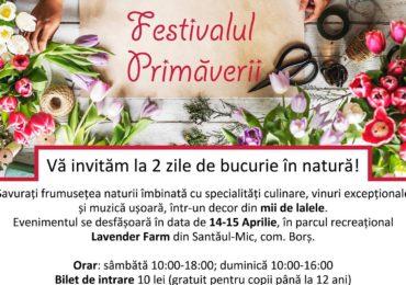Festivalul Primaverii la Santaul Mic, cu specialități culinare, vinuri excepționale și muzică ușoară