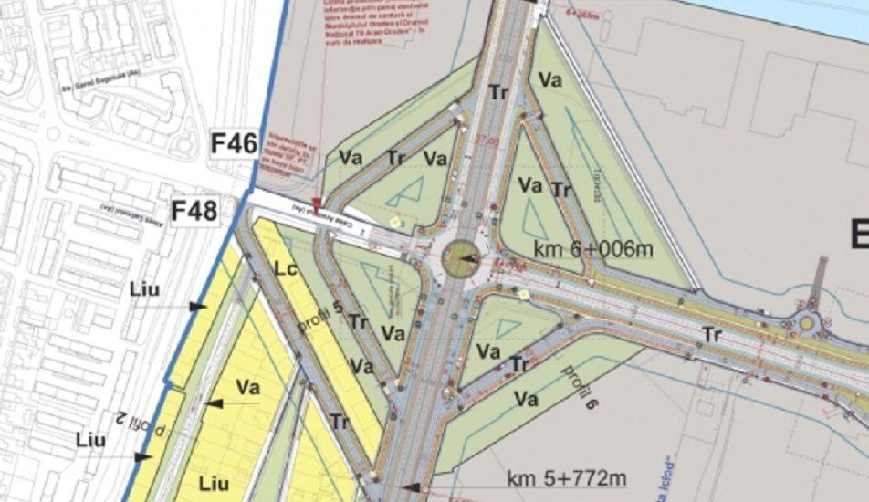 Incepe constructia bretelei de legatura Calea Aradului – Calea Santandrei, iar proiectul drumului colector spre Arad a fost scos la licitatie