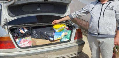 Patru kg. de tutun ascuns în maşină, descoperit în P.T.F Salonta