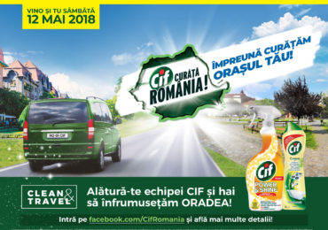 """Lucian Mindruta, vine sambata 12 mai, la Oradea, in campania nationala """"Cif Curata Romania!"""""""