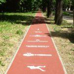 S-a finalizat pista de alergare sintetica de 1 km, din Parcul Bratianu din Oradea (FOTO)