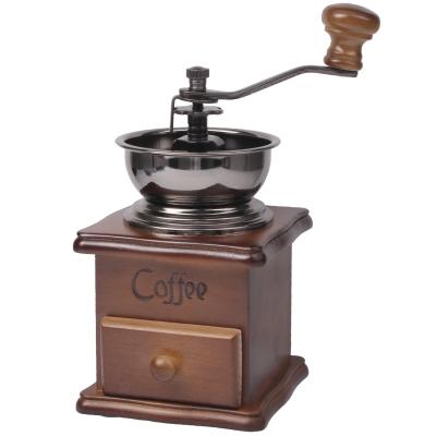 Rasnita manuala de cafea din lemn