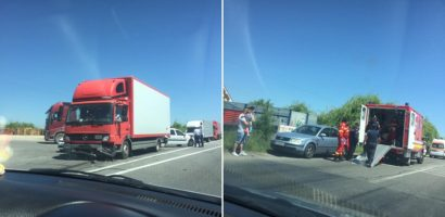 Accident langa Osorhei, pe DN1, in care au fost implicate 4 masini