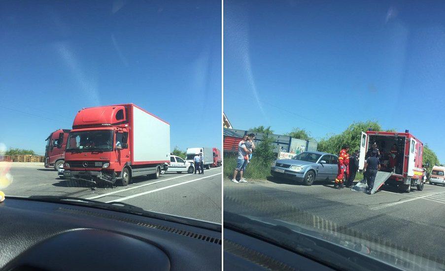 Accident langa Osorhei, pe DN1, in care au fost implicate 4 masini