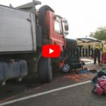 Carnagiu cu 9 romani, pe o sosea din Ungaria. Soferul a transmis live momentul (VIDEO)
