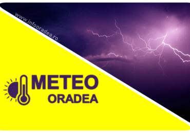 COD GALBEN de furtuna in judetul Bihor, pana la ora 20:00. Vezi zonele afectate