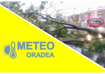 Actualizare! COD GALBEN de vant puternic pentru Oradea si alte 50 de localitati  din judetul Bihor.