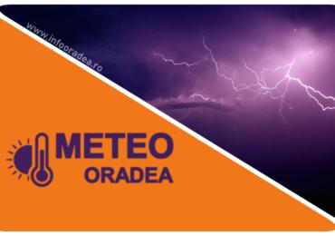 Cod Portocaliu de ploi abundente si grindina pentru mai multe localitati din judetul Bihor