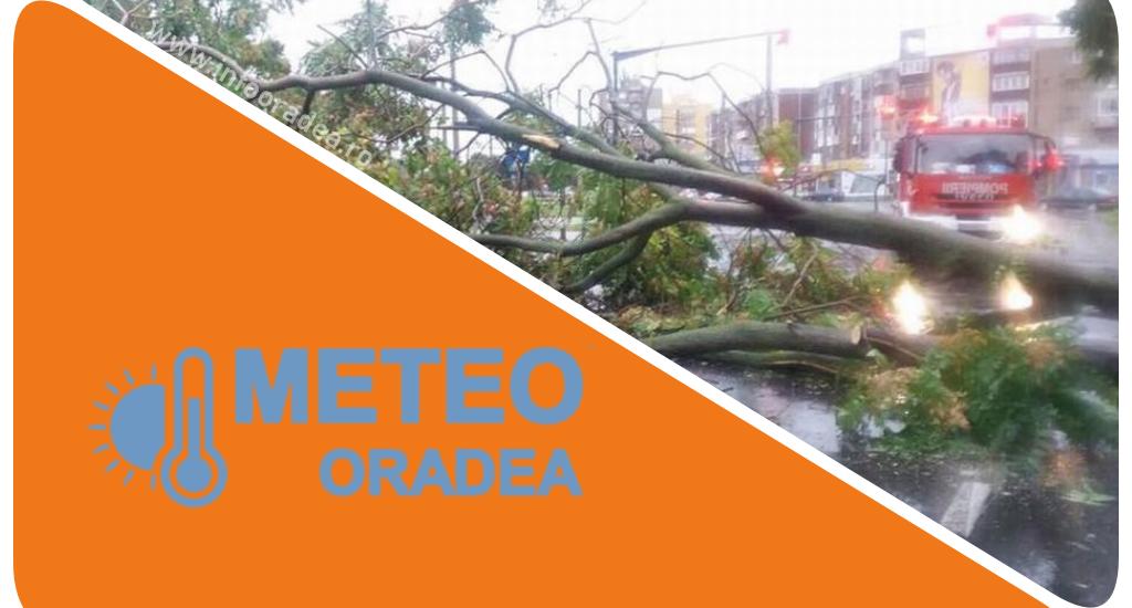 UPDATE! Oradea sub COD PORTOCALIU de furtuna, pana la ora 17:00