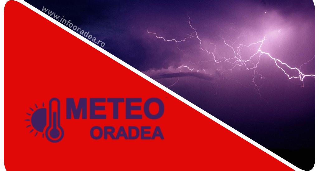 ALERTA! COD ROSU de vijelie puternica si grindina de mari dimensiuni in Judetul Bihor, in apropiere de Oradea