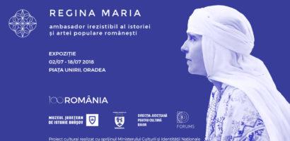 Expozitie de imagini cu Regina Maria in Piata Unirii din Oradea