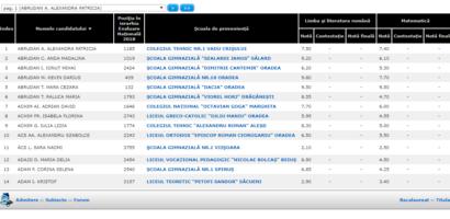 Rezultate Evaluare Nationala judetul Bihor 2018. 11 medii de 10 pe linie
