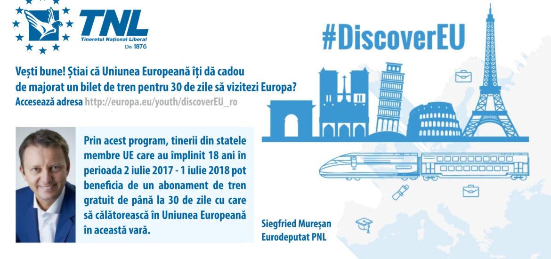 TNL: 750 tineri din România pot călători gratis în Uniunea Europeană