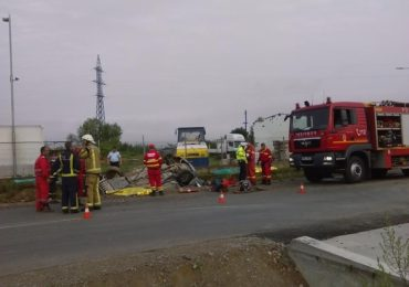 Accident grav DN76 iesire Beius