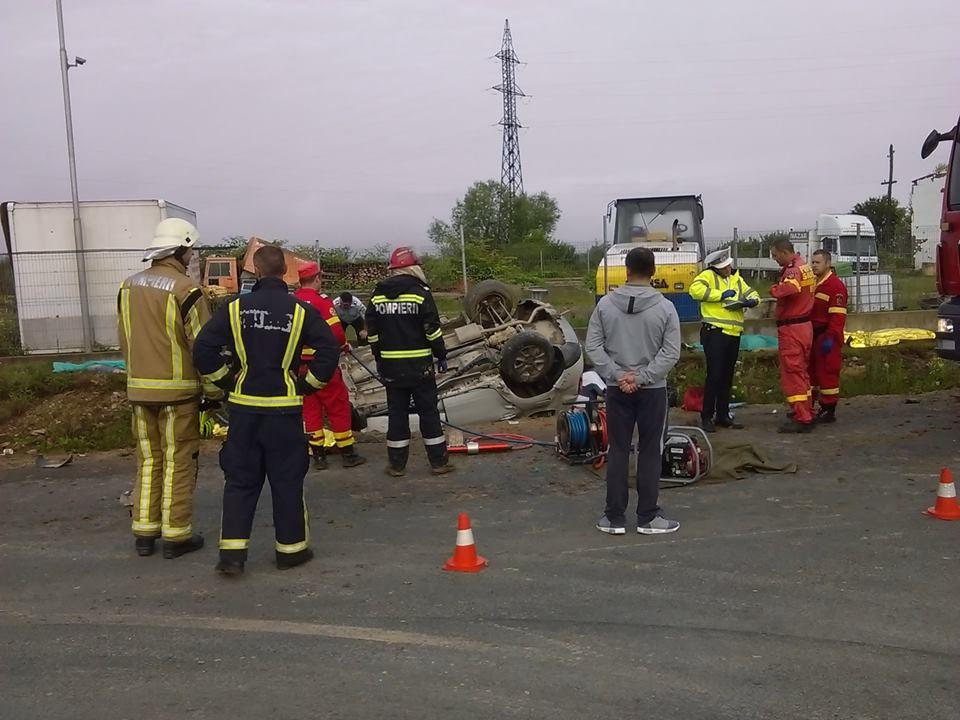Accident grav DN76 iesire Beius