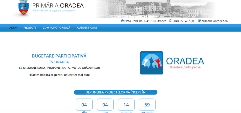 Start in proiectul Bugetare Participativa 2019 – Oradea