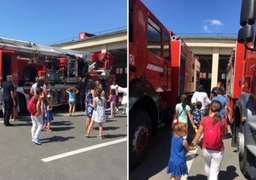 """30 de copii din tabara """"Florile Centenarului"""" in vizita la pompierii oradeni"""