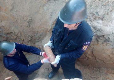Bomba din din cel de-al Doilea Război Mondial, gasita de un localnic in Săldăbagiu de Munte