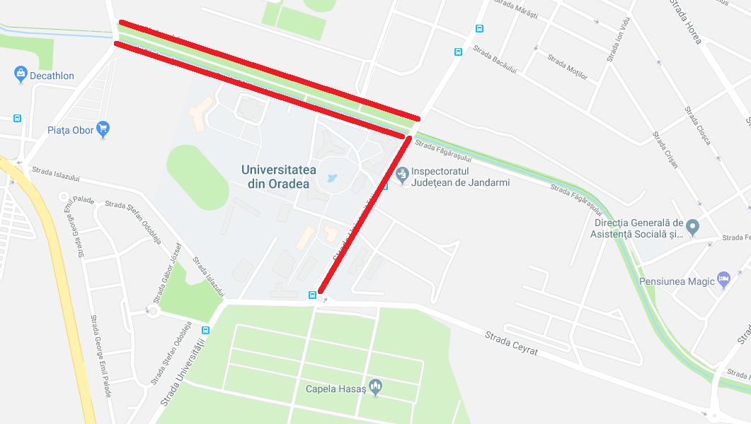 circulatie inchisa universitate Oradea 30.10.2018