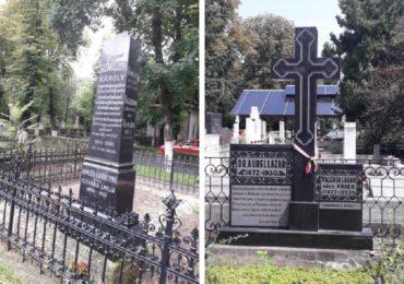 Morminte evidentiate in Cimitirul Rulikowski, pentru a marca personalitatile judetului