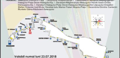 Traseul liniei 10 de autobuz va fi modificat in ziua de 23 iulie