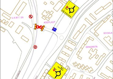 Primaria incepe amenajarea zonei rutiere, la nivel cu calea ferata, de pe strada Uzinelor. Traficul va fi deviat