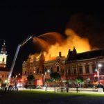 Incep lucrarile de consolidare si reabilitare la Palatului Episcopal din Oradea, mistuit in incendiul din august