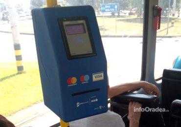Oradea se aliniaza oraselor din Romania, in care poti plati biletul de transport local cu cardul, direct in autobuz sau tramvai