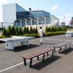 Trei mese noi de tenis de masa in Parcul Sportiv Salca III, donate de o firma bihoreana