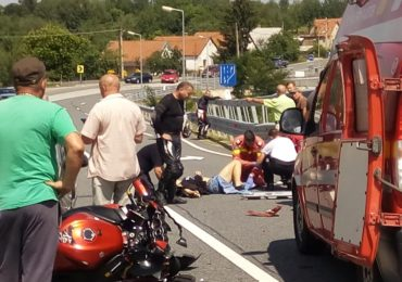 accident Sinteu motociclist