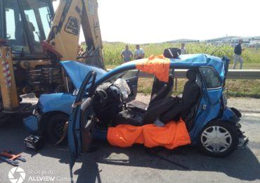 UPDATE! Un Polo a fost aproape strivit, intr-un accident grav petrecut pe Centura Oradea (FOTO)