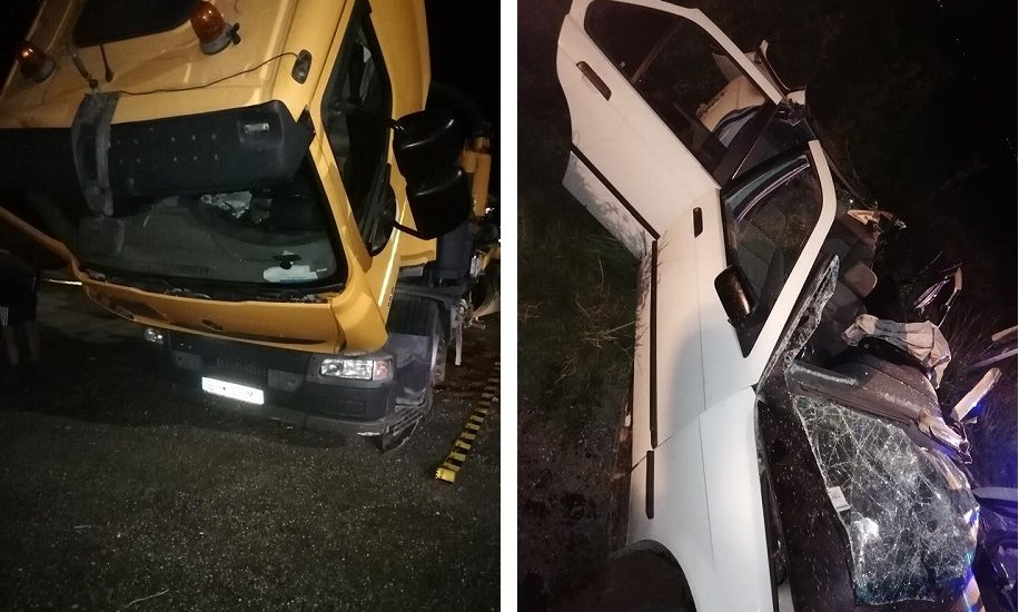 Accident grav in Chiribis, un tanar de 20, ce conducea fara permis, a lovit o cisterna