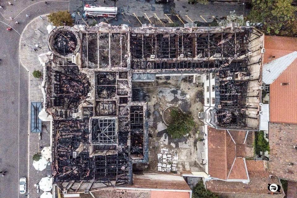incendiu Oradea palat episcopal