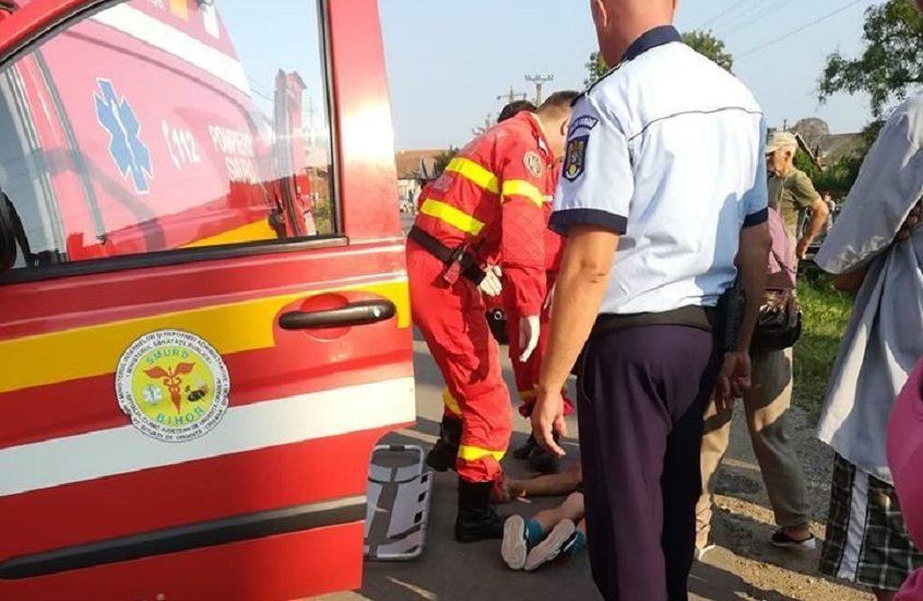 Un copil de 5 ani, lasat nesupravegheat, a fost lovit de o masina in Luncasprie si a ajuns la spital