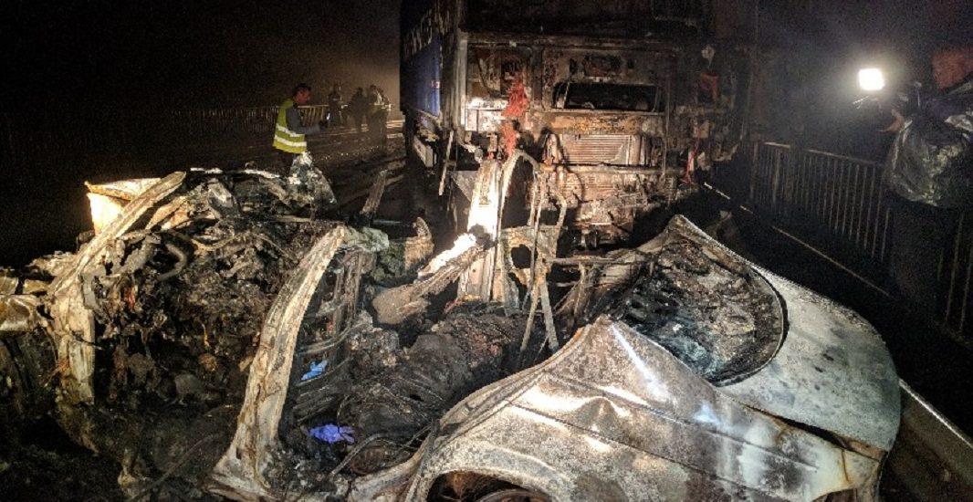 FOTO/VIDEO – Politistii au stabilit vinovatul in cazul accidentului grav din Gheghie