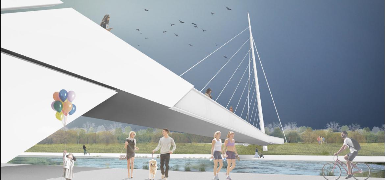 Imagini cu proiectul noului pod pietonal ce va fi construit in Oradea (FOTO)