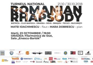 Romanian Rhapsoy, o retrospectivă a muzicii clasice românești, la Oradea, in 23 octombrie la Filarmonica de Stat