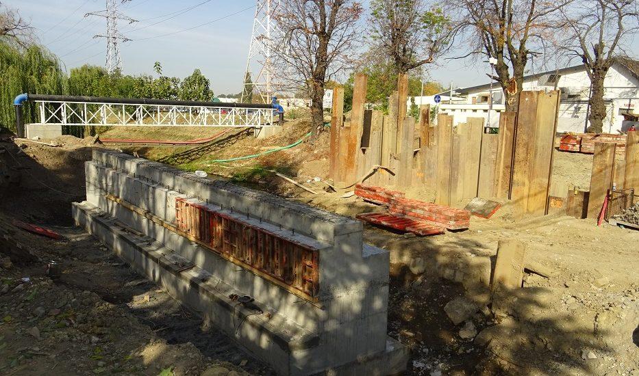 Viceprimarul Florin Birta a prezentat stadiul lucrarilor la noul pod peste Peta, de pe Calea Armatei din Oradea