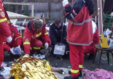 Barbat ranit grav intr-un incendiu in Oradea. Barbatul a suferit arsuri de gradul IV pe o suprafata de 80% din corp
