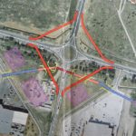 Patru bretele rutiere vor rezolva problema traficului in sensul giratoriu de sub pasajul de pe centura din Calea Aradului