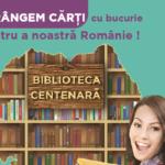 În an centenar, Centrul Comercial Aushopping Oradea îmbogățește fondul de carte al bibliotecilor publice rurale alături de Educab