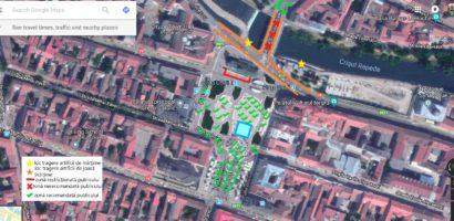 Locatiile de unde se vor trage focurile de artificii, in Oradea, in noaptea dintre ani