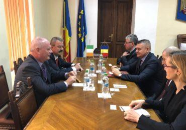 Irlandezii interesati sa faca afaceri in Oradea. Ambasadorul Irlandei in vizita la Oradea