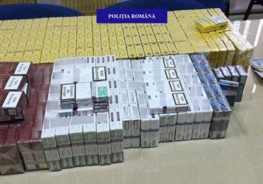Aproape 7.000 de țigarete nemarcate corespunzător și bani din vânzări neînregistrate în casele de marcat, confiscați de polițiștii aleșdani.