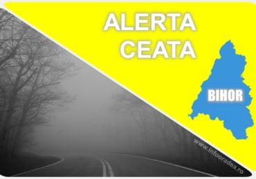 Codul Galben de ceata, pentru Oradea si zona joasa a judetului Bihor, continua pana la ora 17:00