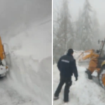 (VIDEO) DN 75, in zona Vartop-Arieseni, a fost blocat de o avalansa. CJ Bihor nici o reactie