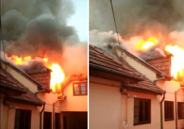 Incendiu puternic la Centru de plasament pentru Copii din Oradea (FOTO – VIDEO)