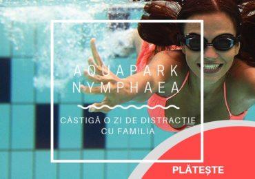 """Reincepe campania """"Plăteşte impozitul online şi câştigă o zi de distracţie la Aquapark Nymphaea"""""""